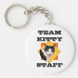 Team Kitty STAFF Basic Round Button Key Ring