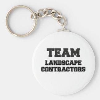 Team Landscape Contractors Basic Round Button Key Ring