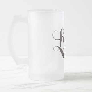 Team Lash Warriors Glass Frosted Glass Mug