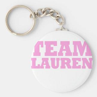Team Lauren Basic Round Button Key Ring