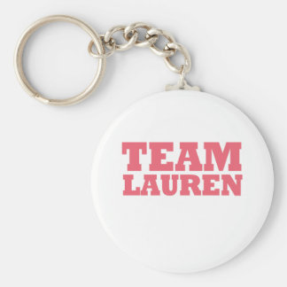 Team Lauren Key Chain