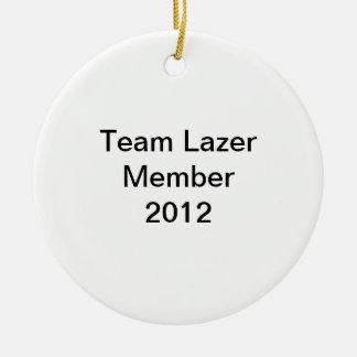 Team Lazer Member Christmas Ornament