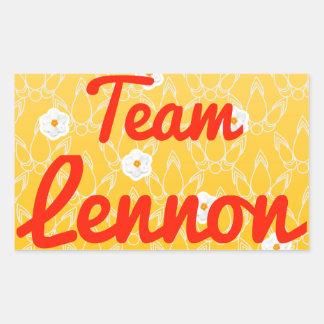 Team Lennon Rectangle Stickers