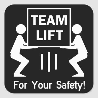 Team Lift Square Sticker