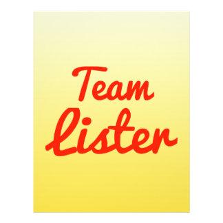 Team Lister Full Color Flyer