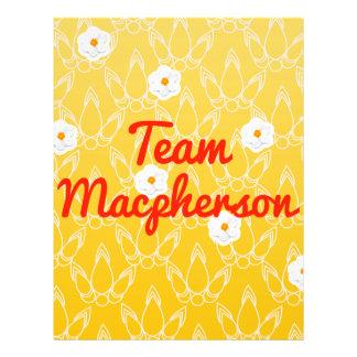Team Macpherson Flyer Design
