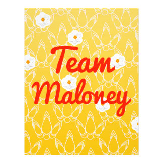Team Maloney Personalized Flyer