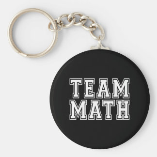 Team Math Basic Round Button Key Ring