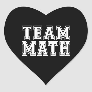 Team Math Heart Sticker