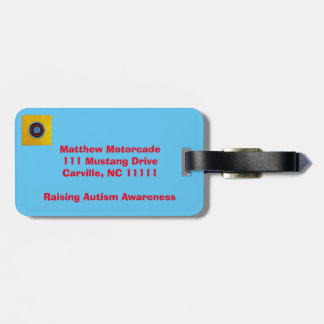 Team Matthew Raising Autism Awareness Luggage Tag