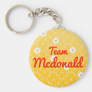 Team Mcdonald Keychains
