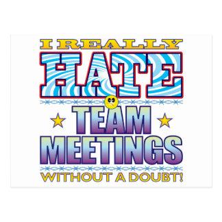 Team Meetings Hate Face Postcard