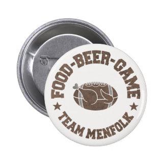 Team menfolk 6 cm round badge