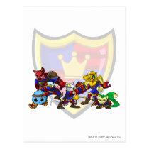 Team Meridell Group postcards