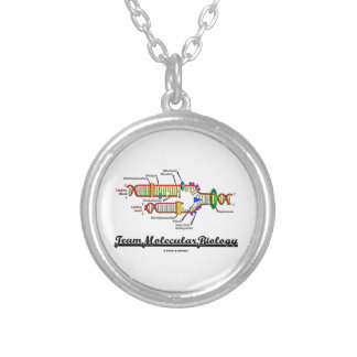 Team Molecular Biology (DNA Replication) Silver Plated Necklace