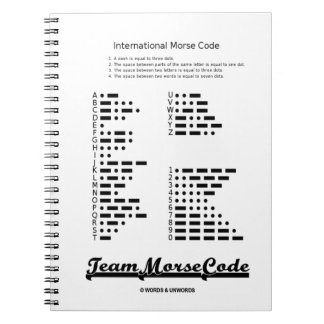 Team Morse Code (Communication Dots & Dashes) Notebook