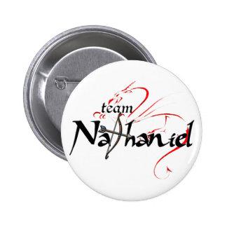 Team NATHANIEL! (light button) 6 Cm Round Badge