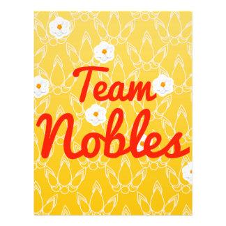 Team Nobles Flyer Design