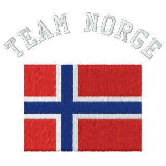 TEAM NORGE Sports Flag Embroidered Track Jacket