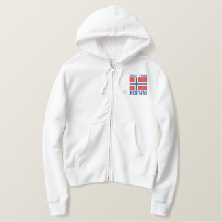 TEAM Norway  Dated Customizable Norwegian Flag Hoody