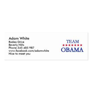 Team Obama 2012 Business Cards