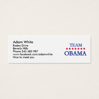 Team Obama 2012 Mini Business Card