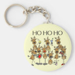Team of Reindeer Tshirts and Gifts Keychains