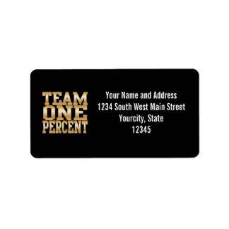 Team One Percent, Get Rich Address Label