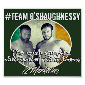 TEAM O'SHAUGHNESSY spartan fight MMA POSTER