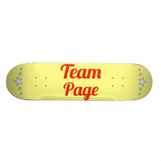 Team Page Skateboard