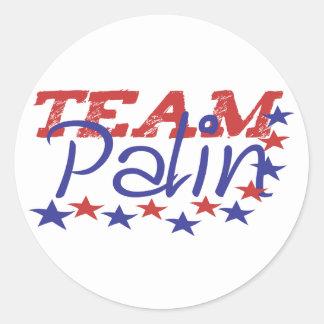 Team Palin Round Sticker