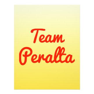 Team Peralta Flyer Design