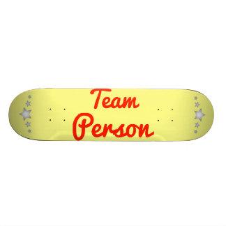 Team Person Skate Board