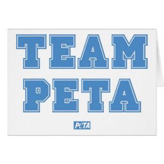 Team PETA Greeting Card