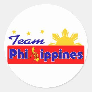 Team Philippines Classic Round Sticker