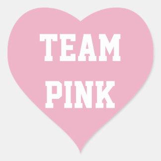 TEAM PINK GIRL Baby reveal Sticker, Baby Shower Heart Sticker