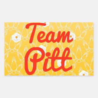 Team Pitt Rectangular Stickers