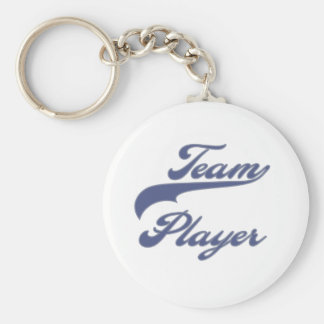 Team Player Basic Round Button Key Ring