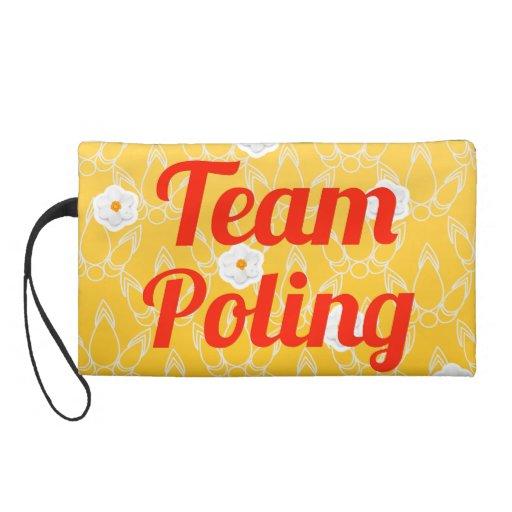 Team Poling Wristlet Purse