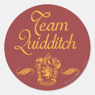 Team Quidditch Round Stickers