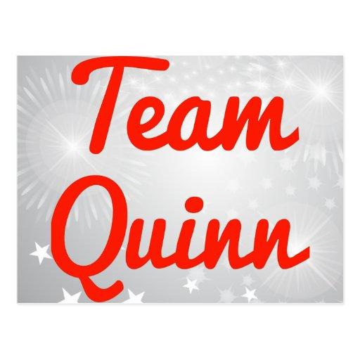 Team Quinn Postcards