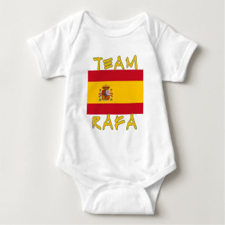 Team Rafa with Spanish Flag Baby Bodysuit