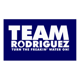 TEAM RODRIGUEZ PACK OF STANDARD BUSINESS CARDS