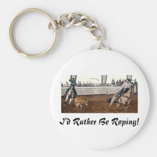 Team Ropers Key Ring