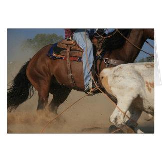 Team Roping Cowboy Roping A Steer Western Card