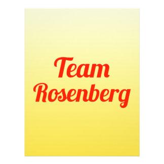Team Rosenberg Custom Flyer
