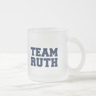 Team Ruth Frosted Glass Mug