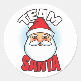 Team Santa Round Sticker