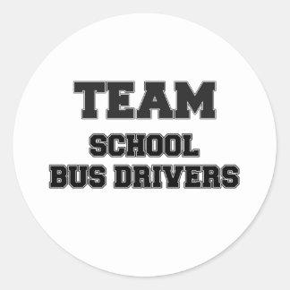 Team School Bus Drivers Stickers