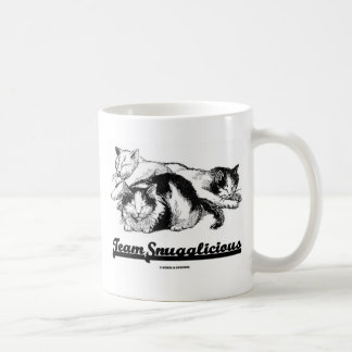 Team Snugglicious (Three Snoozing Cats) Coffee Mug